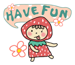 Ichigo Chan and friend.(Eng) sticker #3770189