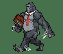 Office worker gorilla sticker #3770594