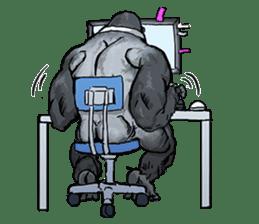 Office worker gorilla sticker #3770595