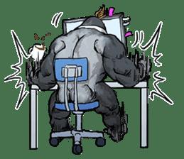 Office worker gorilla sticker #3770598