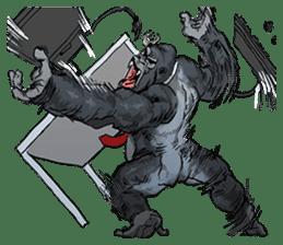 Office worker gorilla sticker #3770599