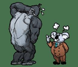 Office worker gorilla sticker #3770600