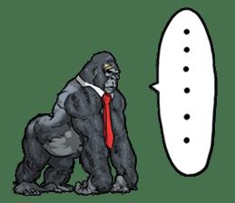 Office worker gorilla sticker #3770608