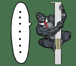 Office worker gorilla sticker #3770609