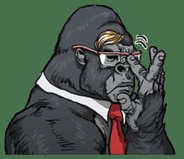Office worker gorilla sticker #3770611