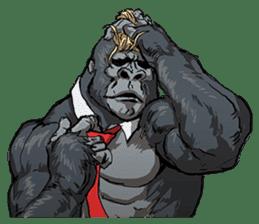 Office worker gorilla sticker #3770613