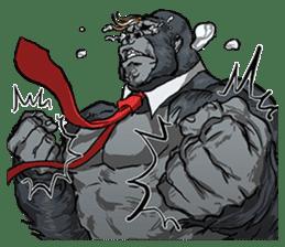 Office worker gorilla sticker #3770615