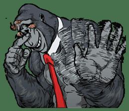 Office worker gorilla sticker #3770619