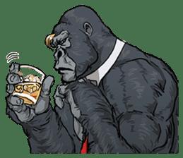 Office worker gorilla sticker #3770621