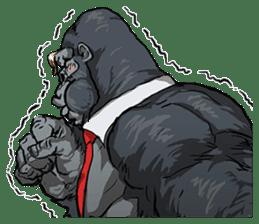 Office worker gorilla sticker #3770622