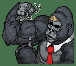 Office worker gorilla sticker #3770624