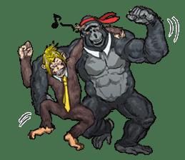 Office worker gorilla sticker #3770627