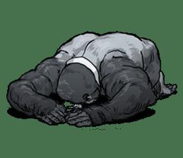 Office worker gorilla sticker #3770628
