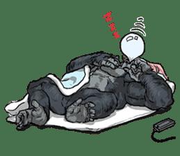 Office worker gorilla sticker #3770630