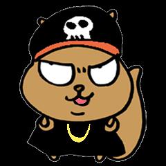 Squirrel Hip Hop Gangster