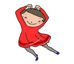 Ripe cute Women of happiness every day sticker #3784656