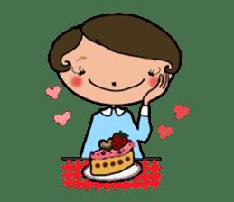 Ripe cute Women of happiness every day sticker #3784665