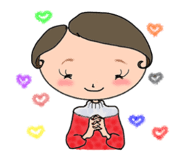 Ripe cute Women of happiness every day sticker #3784684