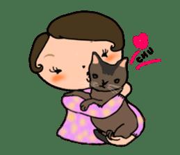 Ripe cute Women of happiness every day sticker #3784686