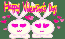 Felice's rabbit family sticker #3784858