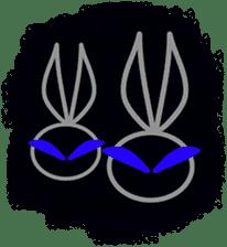 Felice's rabbit family sticker #3784868