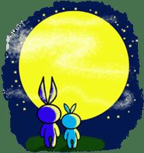 Felice's rabbit family sticker #3784887