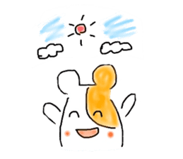 A hamster and pleasant friends. sticker #3785458