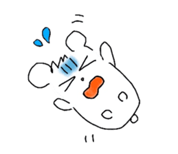 A hamster and pleasant friends. sticker #3785469