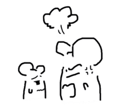 A hamster and pleasant friends. sticker #3785481