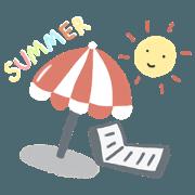 สติ๊กเกอร์ไลน์ Summer is comingggggggg