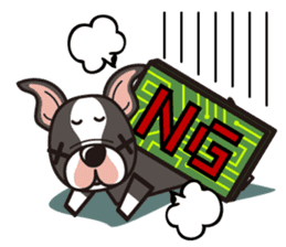 iinu - Boston Terrier sticker #3812540