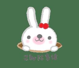 Fluffy Bunny for the girls sticker #3819367