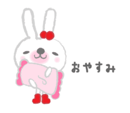 Fluffy Bunny for the girls sticker #3819369