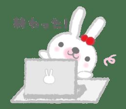 Fluffy Bunny for the girls sticker #3819376