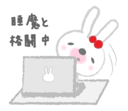 Fluffy Bunny for the girls sticker #3819377