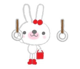 Fluffy Bunny for the girls sticker #3819379