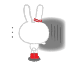Fluffy Bunny for the girls sticker #3819382