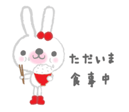 Fluffy Bunny for the girls sticker #3819384