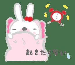 Fluffy Bunny for the girls sticker #3819388