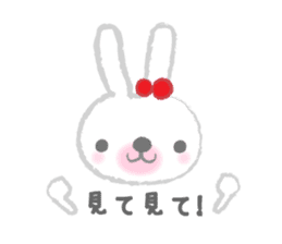 Fluffy Bunny for the girls sticker #3819394