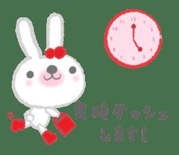 Fluffy Bunny for the girls sticker #3819396