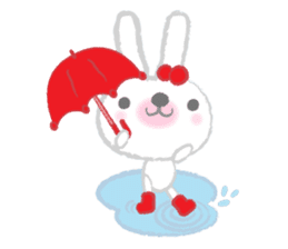 Fluffy Bunny for the girls sticker #3819399