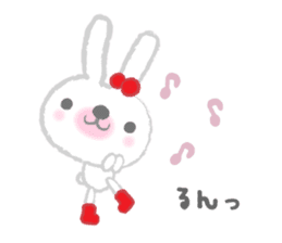 Fluffy Bunny for the girls sticker #3819400
