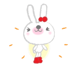 Fluffy Bunny for the girls sticker #3819401