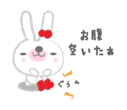 Fluffy Bunny for the girls sticker #3819402