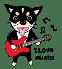Music Cute Dog sticker #3826721