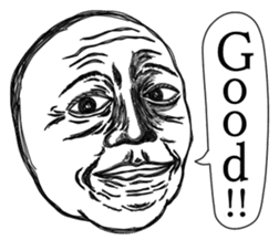 This is a face.(English version) sticker #3829569