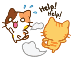 What does the cat say ... Meow 2 sticker #3840997