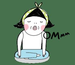 Oh my Bow! - YOGA everyday! sticker #3860495