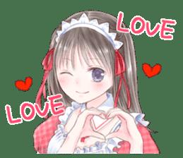 Cute Girls in French Maid sticker #3866290